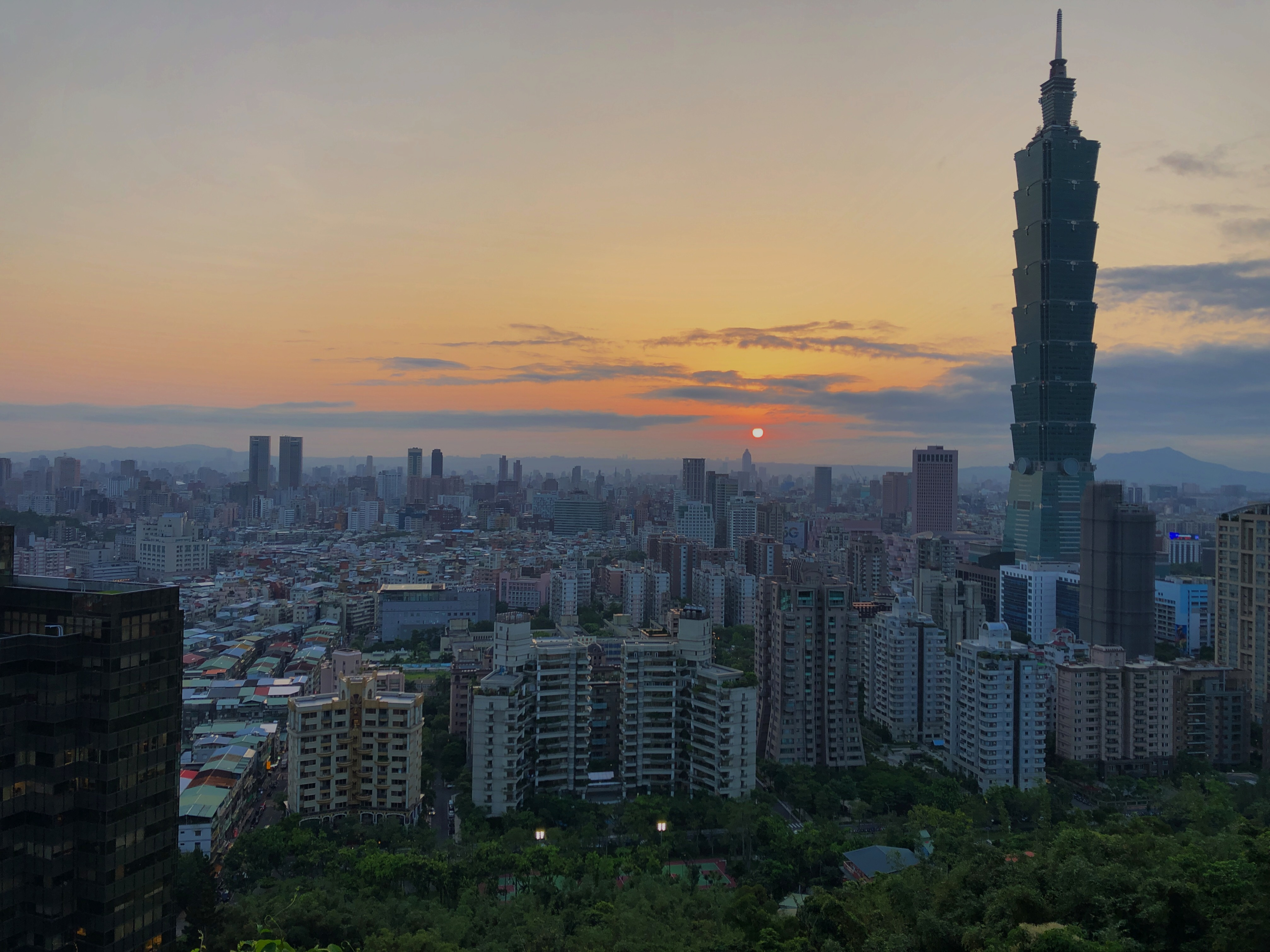 Taipei 101 Sunset